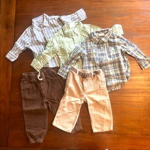 Carters Boy Button Up & Pants Bundle